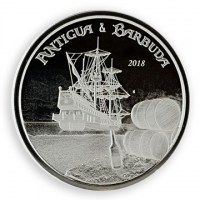 1 Unze Silber 999 Antigua & Barbuda *Rum Runner* 2018 stg. in Originalkapsel