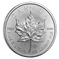 1 Unze Silber 999.9 -5 CAD- *Maple Leaf* 2019